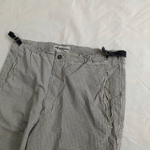 ss1999 Issey Miyake Grid Pattern Loose Pajama Trousers - Size XL