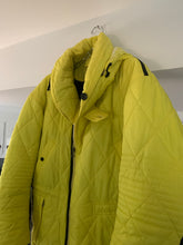 Load image into Gallery viewer, aw1993 Issey Miyake Quilted Yellow Nylon Moto Parka with Wrap Neck and Packable Hood - Size L
