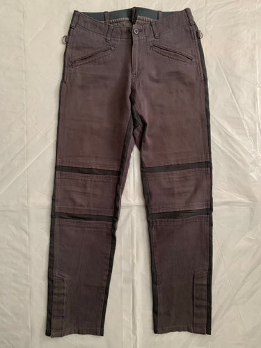 2001 General Research Faded Plum Ribbed Paneled Bike Pants - Size L