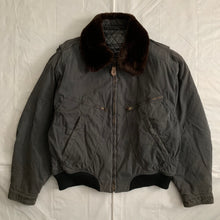 Load image into Gallery viewer, 1990s Armani Washed B-15 Bomber Jacket with Removable Fur Collar and Articulated Shoulder Gusset - Size XL