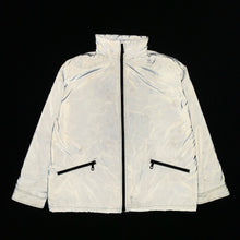 Load image into Gallery viewer, 2000s Armani Futuristic Reflective Glass Jacket with Modular Hood - Size XL