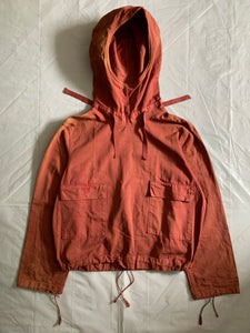 1940s Vintage WW2 US Navy Faded Red Gunner Smock - Size L
