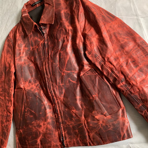 aw2009 Yohji Yamamoto x Justin Davis Uzi Pinup Blood Red Leather Jacket - Size M