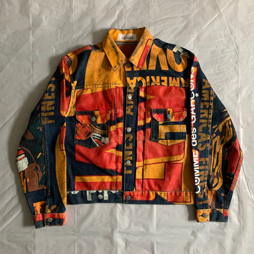 2000s CDG x 10 Corso Como x Levis Painted 507 Trucker Jacket - Size M
