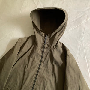 aw2004 Issey Miyake Khaki Green Hooded Technical Jacket - Size L