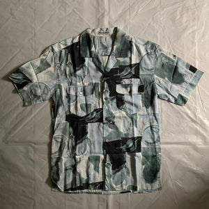 ss1997 Issey Miyake Revere Collar Abstract Painting Shirt - Size L