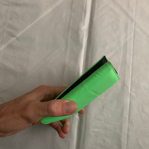 aw2000 Issey Miyake Electric Green Nylon Wallet - Size OS