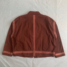 Load image into Gallery viewer, 1990s Armani Object Dyed Bordeaux Blouson with Pink Contrast Pipping - Size XL