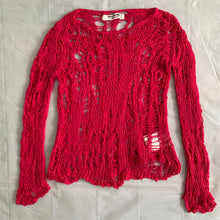 Load image into Gallery viewer, 2002 Junya Watanabe Pink Grunge Spider Web Knit - Size M