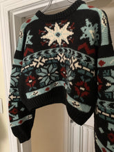 Load image into Gallery viewer, 1990s Katharine Hamnett Cropped Nordic Intarsia Sweater - Size M