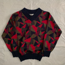 Load image into Gallery viewer, 1980s Armani Geometric Cropped Sweater - Size M