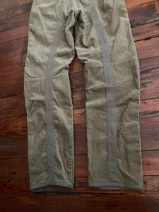 1998 General Research Thick Khaki Corduroy Parasite Pants with Orange Knee Pads - Size M