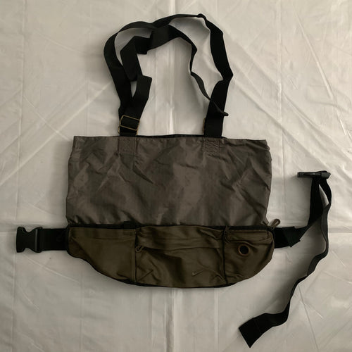 2000s Vintage Nike Transformable Military Waist/Tote Bag - Size OS