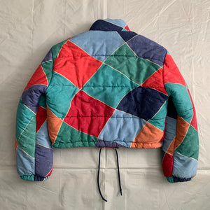 1990s Armani Mutli-Colored Cropped Puffer Jacket - Size M