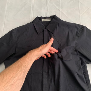 ss1999 Issey Miyake Cotton/Nylon Blend Boxy Cut Workshirt with Zipper Closure - Size M