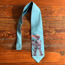 Load image into Gallery viewer, 2000s Yohji Yamamoto Blue Robot Laser Eyes Tie - Size OS
