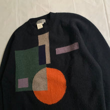 Load image into Gallery viewer, aw1998 Yohji Yamamoto Intarsia Bauhaus Sweater - Size M