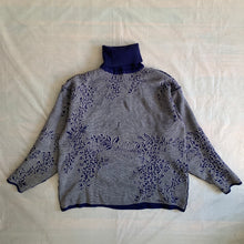 Load image into Gallery viewer, aw1986 Yohji Yamamoto Blue Olive Leaves Turtleneck - Size M