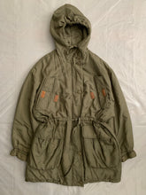 Load image into Gallery viewer, 1990s Katharine Hamnett Khaki Silk Military Parka - Size XL