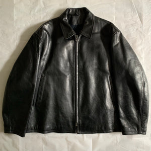aw1991 Yohji Yamamoto 6.1 The Men Ready For Duty Pinup Leather Jacket - Size M