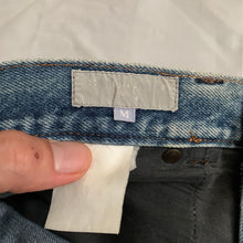 Load image into Gallery viewer, 1990s CDGH Faded Vintage White Label Denim with Knee Blowout - Size S