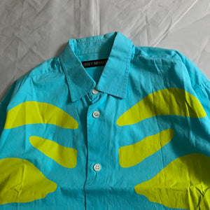 ss2004 Issey Miyake Electric Blue and Green Matisse Design Shirt - Size S