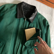 Load image into Gallery viewer, aw1990 CDGH Forest Green Cargo Bomber Jacket - Size L