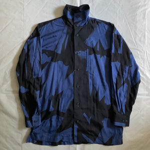 aw1991 Issey Miyake Brush Graphic High Neck Shirt - Size L
