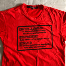 Load image into Gallery viewer, ss2005 Junya Watanabe Red Hiking Graphic Tee - Size S