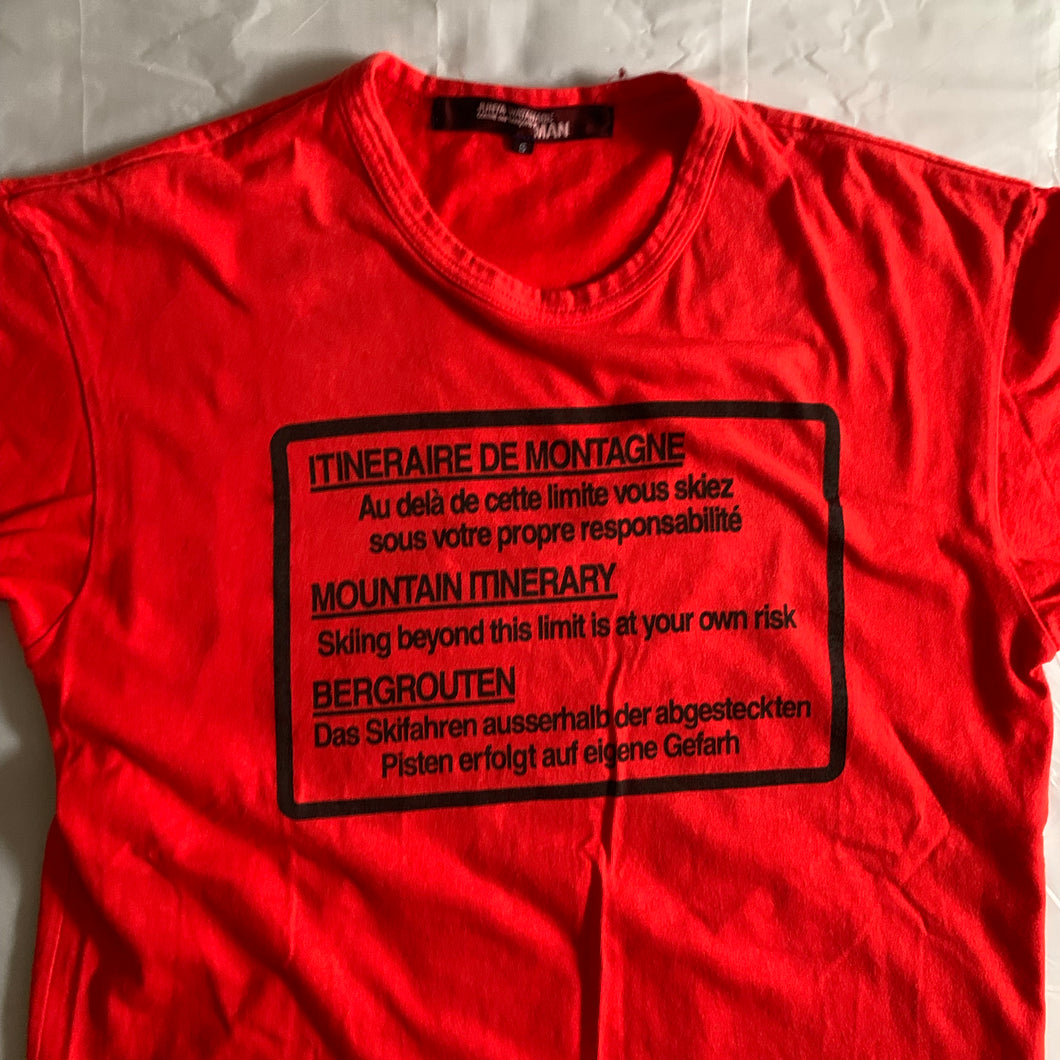 ss2005 Junya Watanabe Red Hiking Graphic Tee - Size S