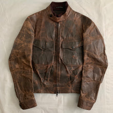 Load image into Gallery viewer, aw2009 Yohji Yamamoto x Justin Davis Uzi Pinup Brown Leather Trucker Jacket - Size M