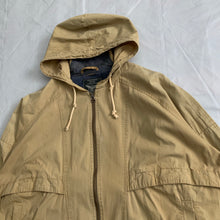 Load image into Gallery viewer, 1990s Armani Faded Yellow Paneled Hooded Work Jacket  - Size XL