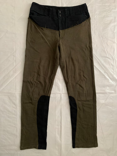 aw2004 Issey Miyake Reconstructed Switch Fabric Paneling Pants - Size L