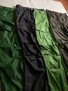 ss2007 Issey Miyake True Green Textured Nylon Tactical Pants - Size L