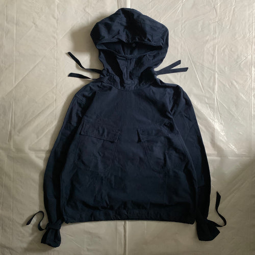 1940s Vintage WW2 US Navy Dark Blue Gunner Smock - Size XL