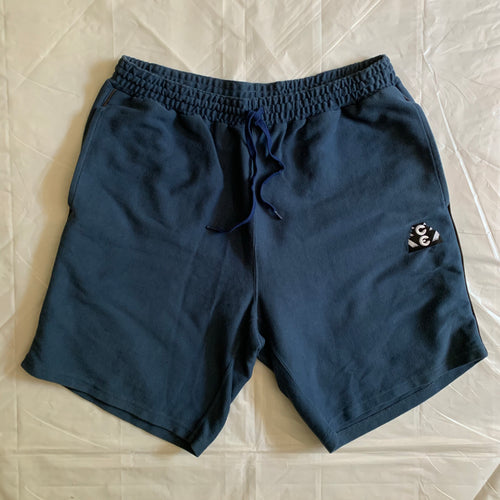 2010s Cav Empt Faded Blue Cotton Sweatshorts - Size L