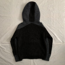 Load image into Gallery viewer, 2000s Vintage Grey and Black Mohair Ninja Hoodie - Size M