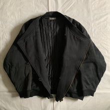 Load image into Gallery viewer, 1980s Issey Miyake Dual Backzip Heavy Cotton Bomber Jacket with Asymmetric Closure - Size XL