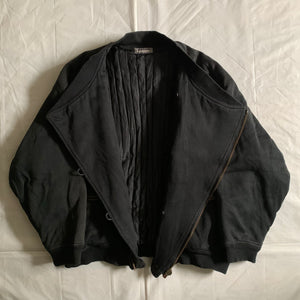 1980s Issey Miyake Dual Backzip Heavy Cotton Bomber Jacket with Asymmetric Closure - Size XL