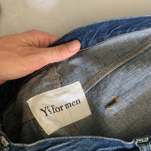 2000s Yohji Yamamoto x Spotted Horse Repaired Distressed Denim - Size L
