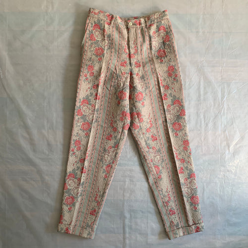 ss2000 CDGH+ Gobelin Rose Tapestry Pants - Size M