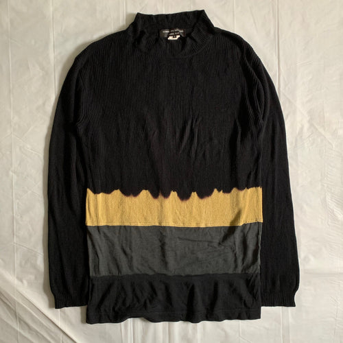 aw1993 CDGH+ Oversized Mockneck Bleached Knit Sweater - Size XL