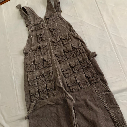 1998 General Research Parasite Multi Pocket Corduroy Overalls - Size M