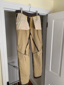 2000s Mandarina Duck Moleskin Articulated Knee Dart and Slit Pants - Size L