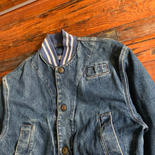 Load image into Gallery viewer, 1980s Katharine Hamnett Denim Teddy Jacket - Size L