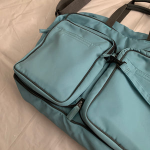 aw2000 Issey Miyake Teal Convertible Tactical Travel Bag - Size OS