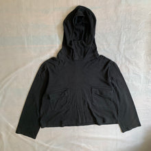 Load image into Gallery viewer, 1980s Yohji Yamamoto Crop Pullover Hoodie - Size M