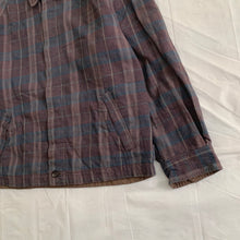 Load image into Gallery viewer, 1980s CDGH Earth Tone Plaid Work Blouson - Size L