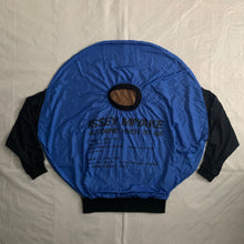 Load image into Gallery viewer, aw1987 Issey Miyake Blue Nylon Circle Pattern Staff Crewneck - Size OS