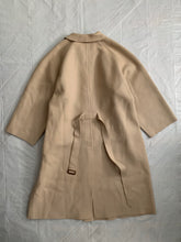 Load image into Gallery viewer, aw1995 Yohji Yamamoto Beige Raw Cut Wool Overcoat - Size OS